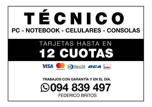 tecnico a domicilio: celulares, tablets, notebooks, pc