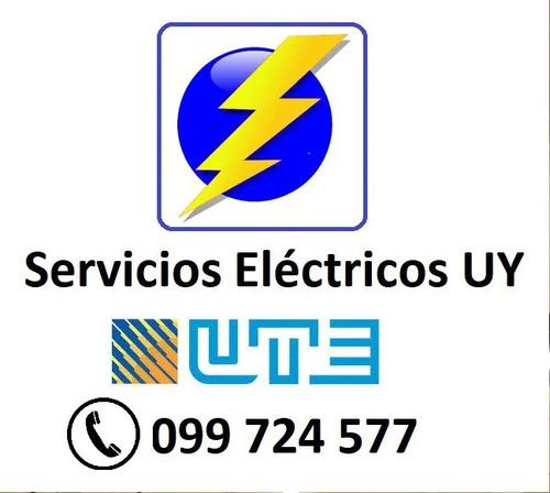 técnico electricista - autorizado por ute - a domicilio