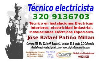 tecnico electricista en bogota.