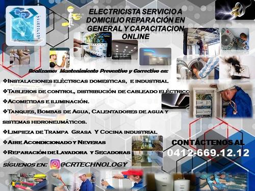 técnico electricista reparación en general,tableros,bombas.
