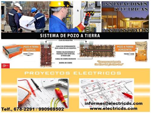 técnico electricista,megados,pozos a tierra