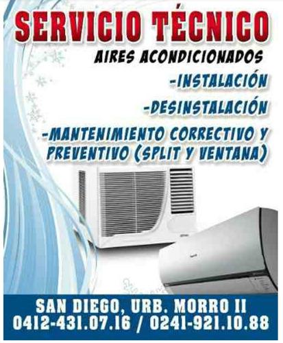 técnico en aires acondicionados instalación y des-intalacion