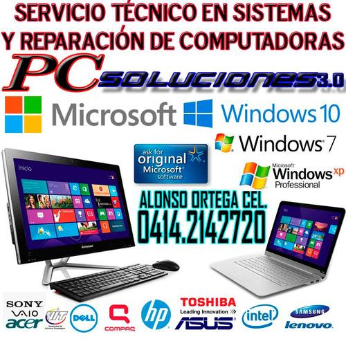 tecnico en computadoras a domicilio garantia y factura
