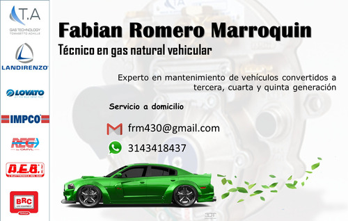 técnico en gas natural vehicular a domicilio.