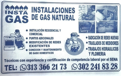 tecnico instalador de gas