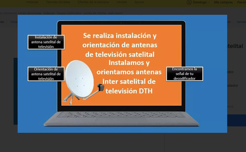 tecnico inter satelital orientacion de antena