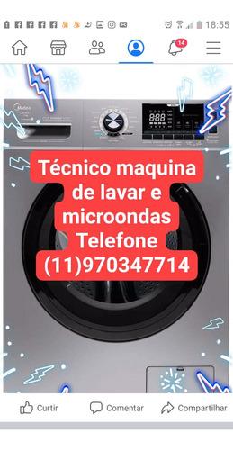 técnico maquinas de lavar e microondas