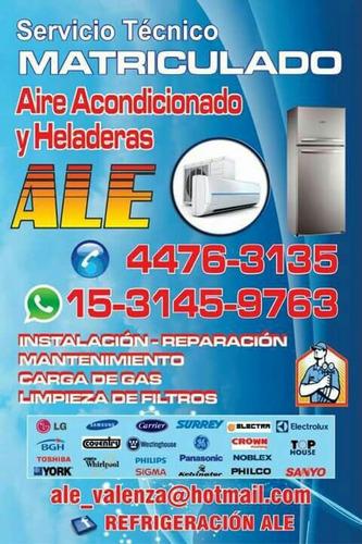 tecnico matriculado de aire acondicionado y heladeras
