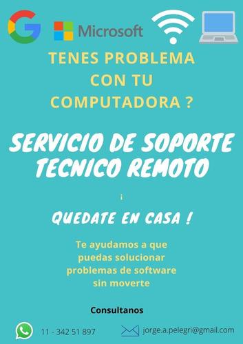 tecnico pc remoto soporte computacion - $200 diagnostico