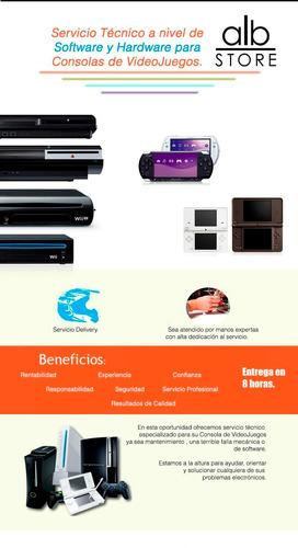 tecnico psvita ps2 ps3 ps4 xbox switch 3ds 2ds dsi wii chip