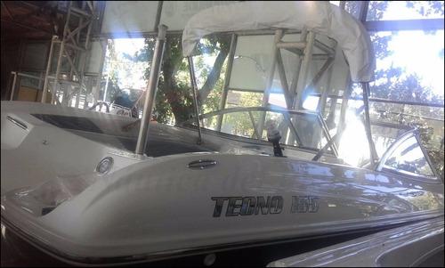 tecno 165 open nueva con motor evinrude etec 90 hp ecologico