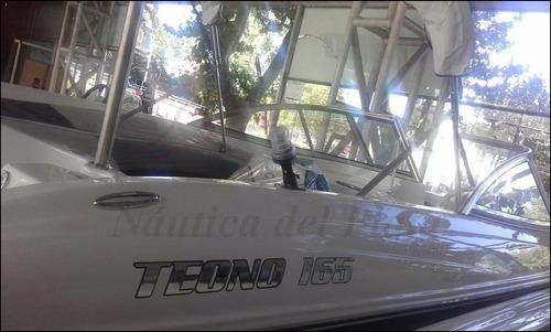 tecno open 165 equipada full motor 60 hp 2t mercury 2017