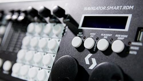 tecshow navigator smart rdm consola dmx 24 unidades 26 canal