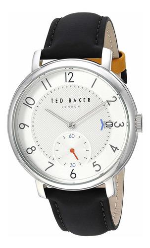 ted baker men's 'oscar' quartz stainless steel and leathe