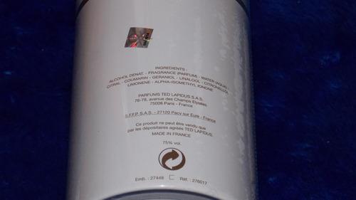 ted lapidus -white soul -eau de parfum. swarovski elements.