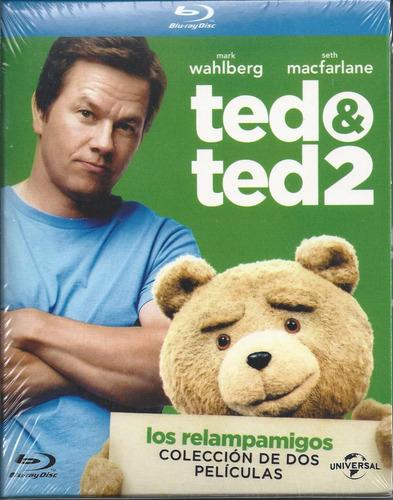 ted y ted 2 box set de 2 películas blu-ray nacional env grat