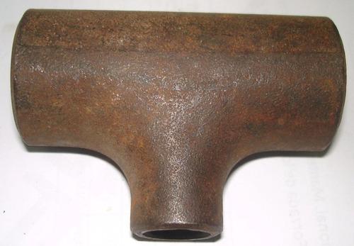 tee 1 x 1/2 acero al carbón para soldar