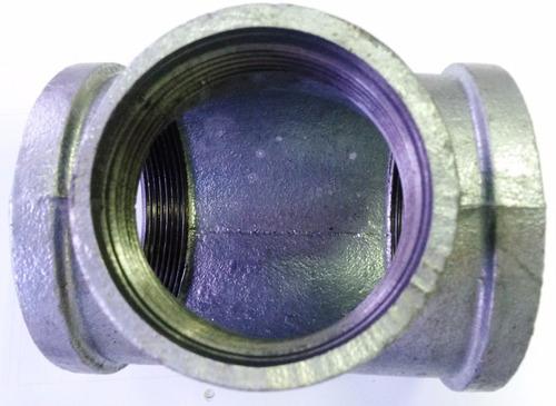 tee de 1 1/4 x 1 pulg hierro galvanizado reforzado