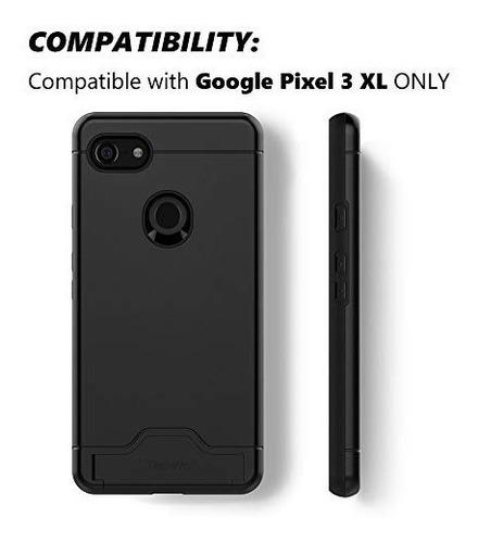 teelevo  funda tipo cartera para google pixel 3 xl (doble ca