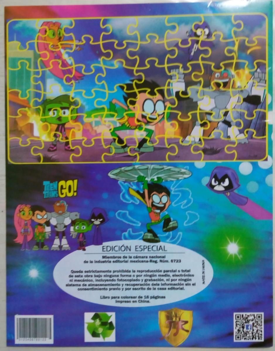 Teen Jovenes Titanes Robin Paq 6 Libros Iluminar Colorear - $ 45.00 ...