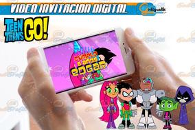 Teen Titans Go Globos Invitaciones Y Tarjetas En Mercado