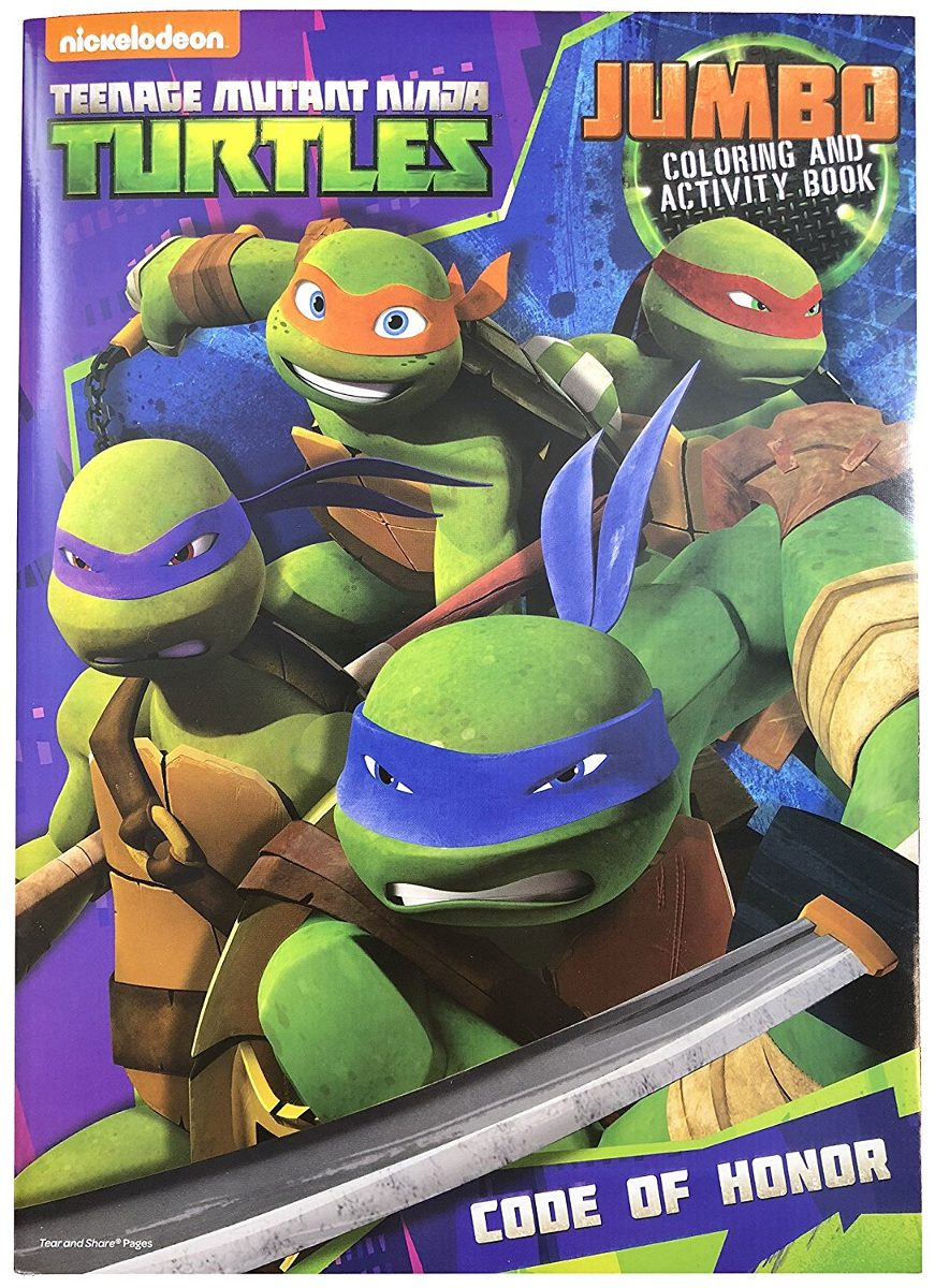Teenage Mutant Ninja Turtles Jumbo Libro De Colorear Y Ac ...
