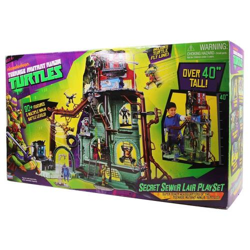 teenage mutant ninja turtles sewer lair playset