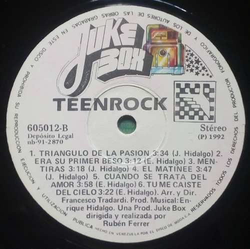 teenrock; lp vinyl -605012