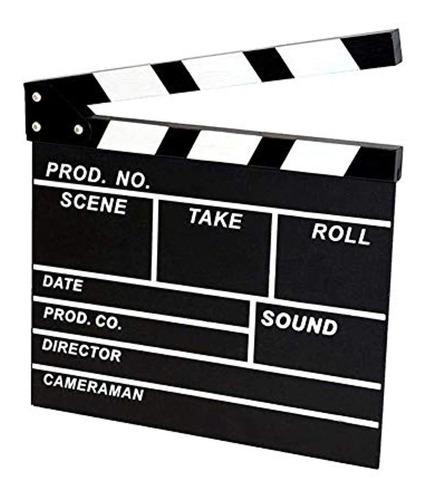 teensery wooden film movie clapper board