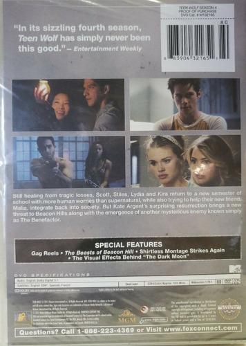 teenwolf cuarta temporada 4 cuatro dvd