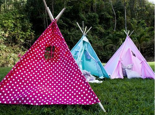 teepees para pijamadas, picnics o área infantil de bodas.