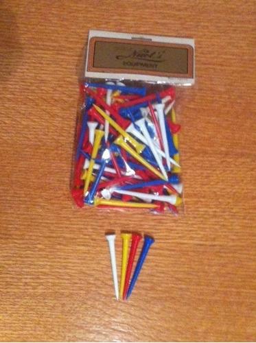 tees plástico para golf super largos 8 cm x 100 unidades