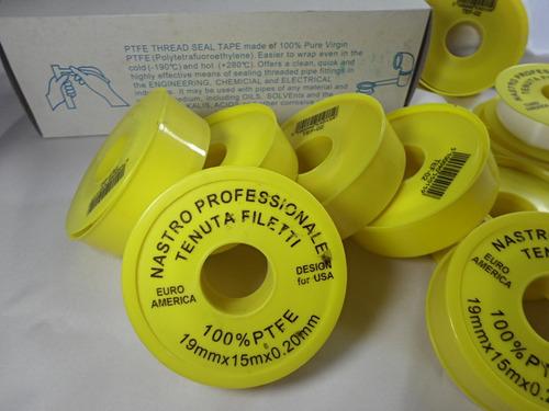 teflon profesional 3/4 x 15 metros x 0.20 mm esp el grueso