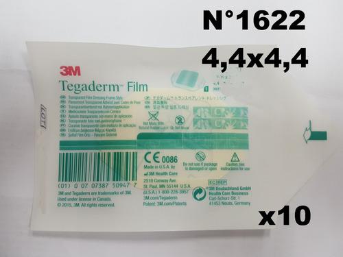 tegaderm 4,44x4,44cm 1622w x 10  - parches hipoalergenicos