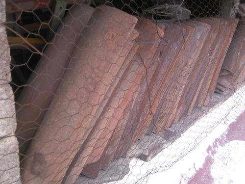 teja de barro rojo recocido