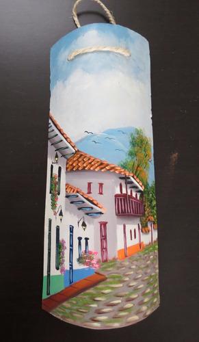 teja pintada al oleo , calles al oleo pintura !