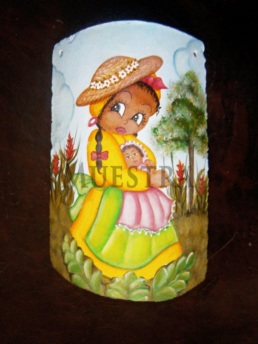 Tejas decoradas manualidades pintura artesania damas bs - Pintura para tejas ...