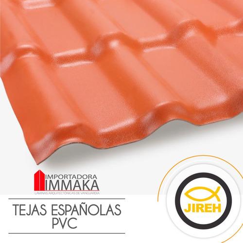 tejas españolas en pvc / alucobond policarbonato acrilico