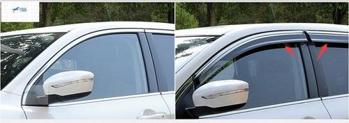 tejas o deflectores de ventana negros ford fiesta 2005-2008