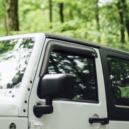 tejas o deflectores jeep 2 puertas - fibra de carbono