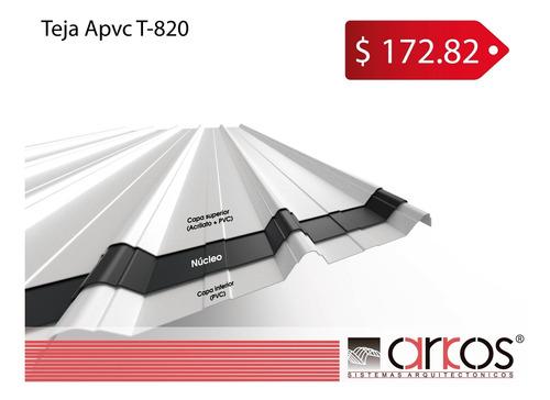 tejas termoacústicas apvc t820 10 años de garantía