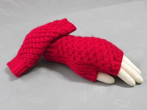 tejido a mano: ´´ mitones¨´lindos, exclusivos y elegantes
