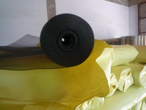 tejido mosquitero de aluminio negro