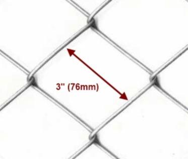 tejido romboidal 3´x 1,50mts alambre 14 x 10mts