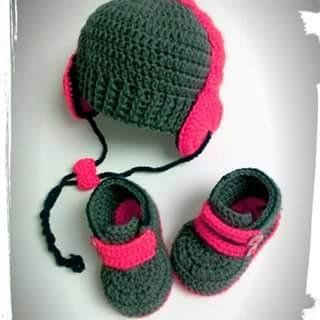 Tejidos A Crochet Para Bebes.gorros Con Auriculares Zapatos ... 938192b278d