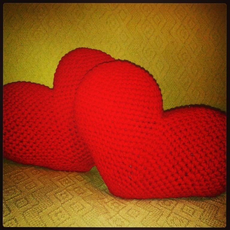 Único Los Patrones De Crochet Corazón Rojo Foto - Manta de Tejer ...