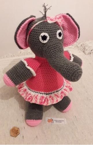 tejidos crochet artesanal amigurumi elefante  muñecos apego