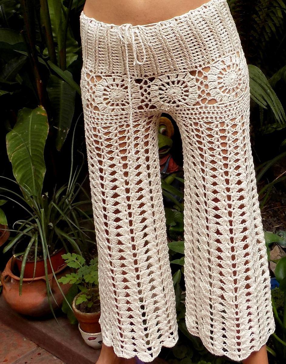 En Tejidos Mercado Libre 00 De Con Crochet Pantalon Seda 750 Hilo BqBU8gRw