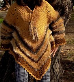 293065871 Tejidos Crochet Sweter Poncho Artesanal Lana
