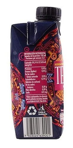 tejuino. bebida refrescante. caja con 18 piezas de 330 ml.
